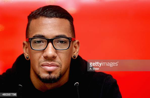 Jerome Boateng defender of FC Bayern Muenchen poses during a portrait session on December 8 2014 in Munich Germany