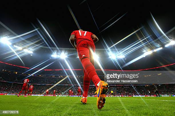 Jerome Boateng of Bayern Muenchen enters the field with his team mates for the UEFA Champions League Group F match between FC Bayern Munchen and GNK...