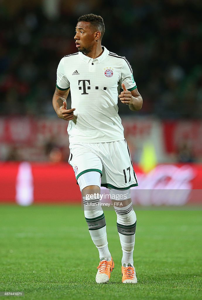 Jerome Boateng of Bayern Muenchen looks on during the FIFA Club World Cup Semi Final match between Guangzhou Evergrande FC and Bayern Muenchen at the Agadir Stadium on December 17, 2013 in Agadir, Morocco.