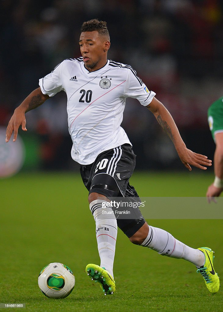 <a gi-track='captionPersonalityLinkClicked' href=/galleries/search?phrase=Jerome+Boateng&family=editorial&specificpeople=2192287 ng-click='$event.stopPropagation()'>Jerome Boateng</a> of Germany in action during the FIFA world Cup 2014 qualification match between Germany and Republic of Ireland at the Rheinenergy stadium on October 11, 2013 in Cologne, Germany.