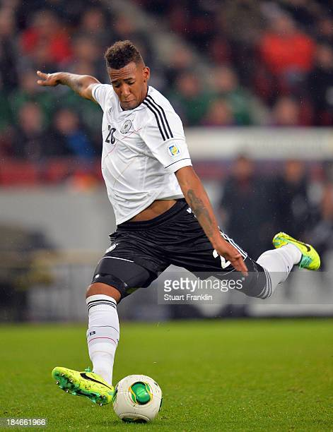 Jerome Boateng of Germany in action during the FIFA world Cup 2014 qualification match between Germany and Republic of Ireland at the Rheinenergy...