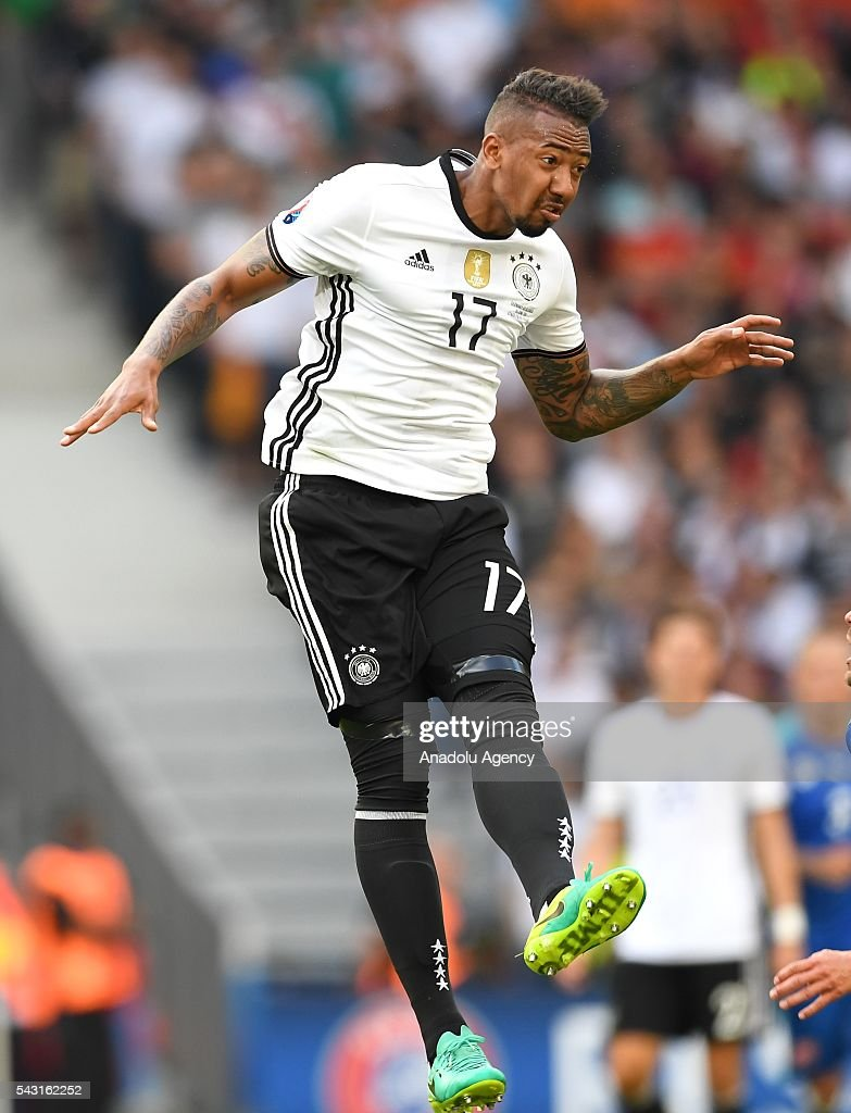 Jerome Boateng of Germany in action during the UEFA Euro 2016 round of 16 football match between Germany and Slovakia at Stade Pierre Mauroy in Lille, France on June 26, 2016.