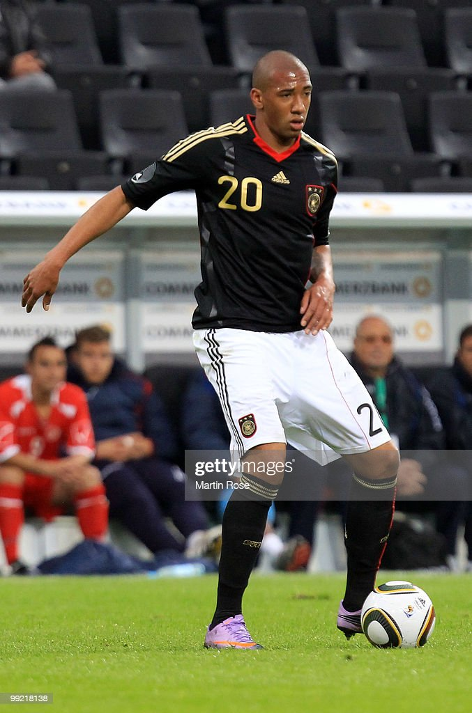 Jerome Boateng of Germany runs with the ball during the international friendly match between Germany and Malta at Tivoli stadium on May 13, 2010 in Aachen, Germany.
