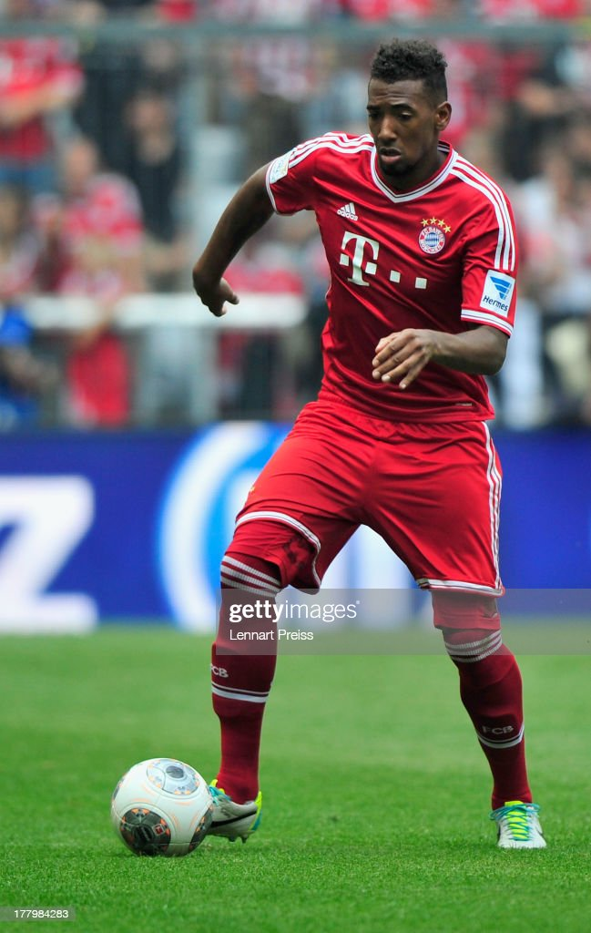 Jerome Boateng of Muenchen in action during the Bundesliga match between FC Bayern Muenchen and 1. FC Nuernberg at Allianz Arena on August 24, 2013 in Munich, Germany.
