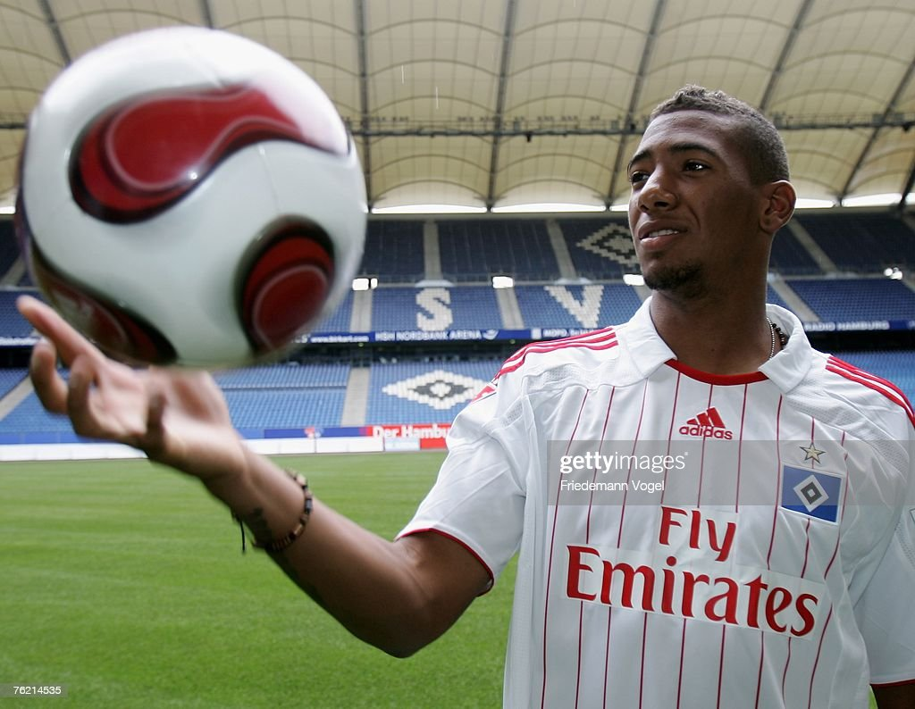 Jerome Boateng Signs For Hamburger SV Press Conference s