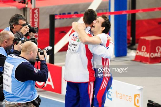 Jerome CLAVIER / Renaud LAVILLENIE passe 6m03 Saut a la perche Championnats d'Europe en salle BercyParis