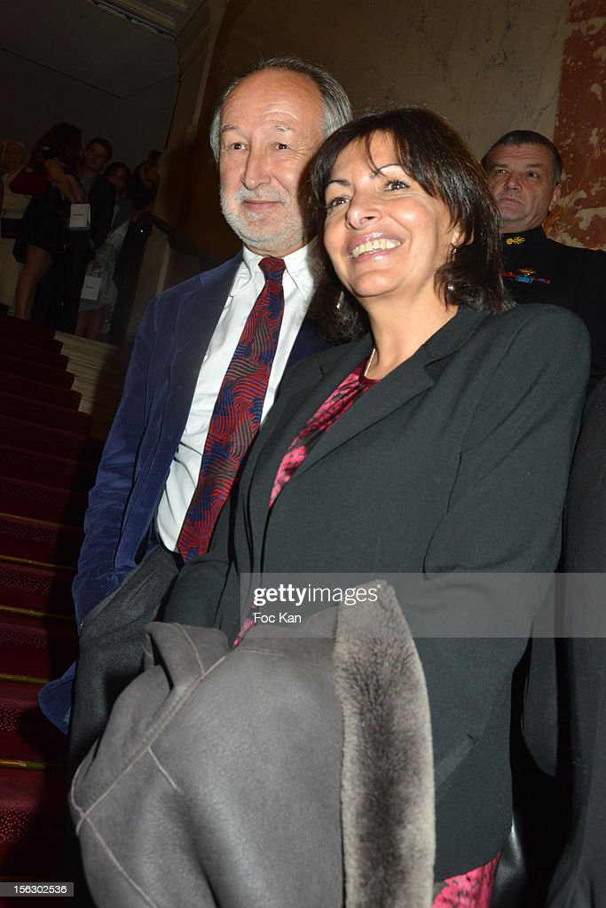 Jerome Clement and a guest attend the 20th 'Gala Pour L'Espoir' At the Theatre du Chatelet on November 12, 2012 in Paris, France.