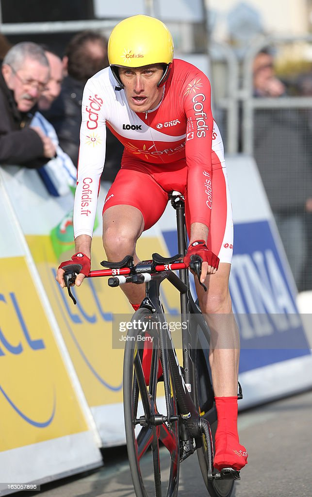 Jerome Coppel of France and Team Cofidis rides during the prologue of 2.9 km of the 2013 Paris-Nice on March 3, 2013 in Houilles, Yvelines, France.