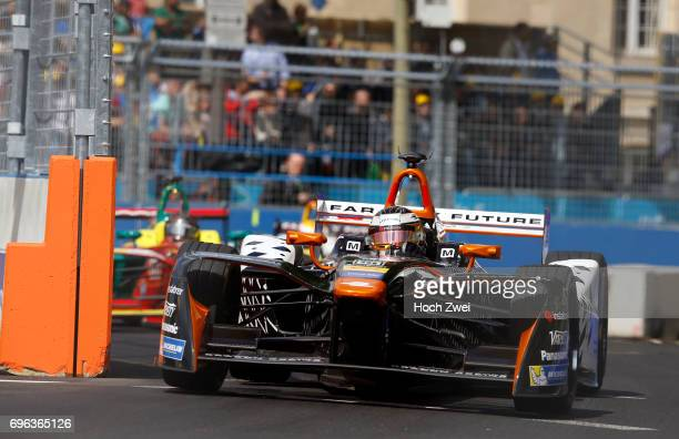 Jerome d'Ambrosio of Belgium during the FormulaE Championship 2017 on May 20 2017 in Paris France