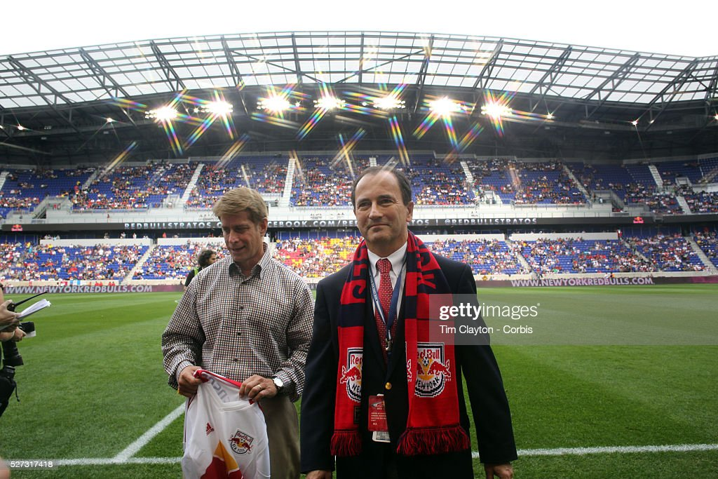 Jerome de Bontin The new general manager of the New York Red Bulls on the playing field before the New York Red Bulls V Chicago Fire Major League...