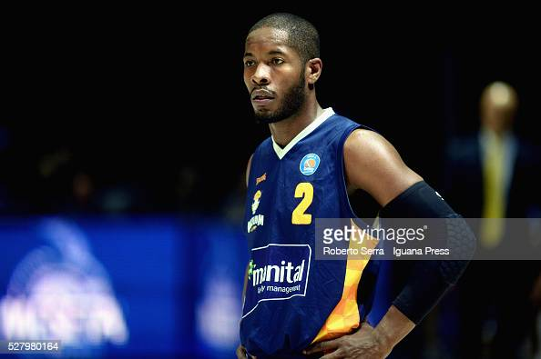 Jerome Dyson of Manital looks over during the LegaBasket match between Virtus Obiettivo Lavoro Bologna v Auxilium Manital Torino at Unipol Arena on...