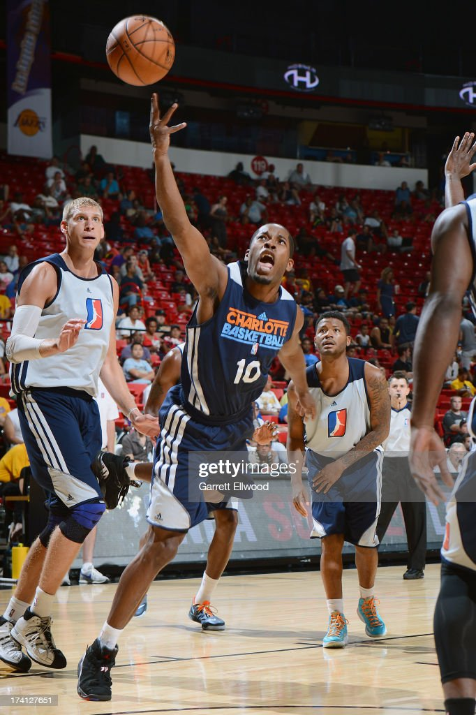 Jerome Dyson #10 of the Charlotte Bobcats is seen in action during NBA Summer League game between the Charlotte Bobcats and the D-League Select Team on July 20, 2013 at the Cox Pavilion in Las Vegas, Nevada.