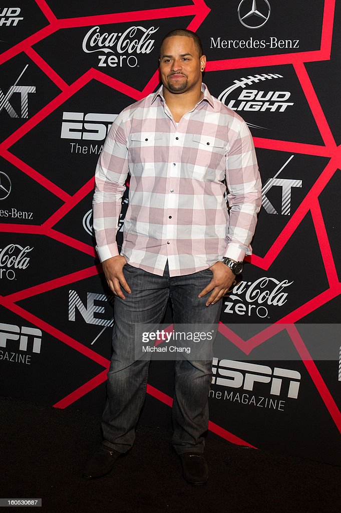 <a gi-track='captionPersonalityLinkClicked' href=/galleries/search?phrase=Jerome+Felton&family=editorial&specificpeople=5085117 ng-click='$event.stopPropagation()'>Jerome Felton</a> attends ESPN The Magazine's 'Next' Event at Tad Gormley Stadium on February 1, 2013 in New Orleans, Louisiana.