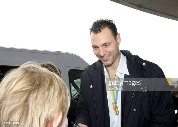Jerome Fernandez Arrivee de l'Equipe de France de Handball Championne du Monde Aeroport de Paris Charles de Gaulle