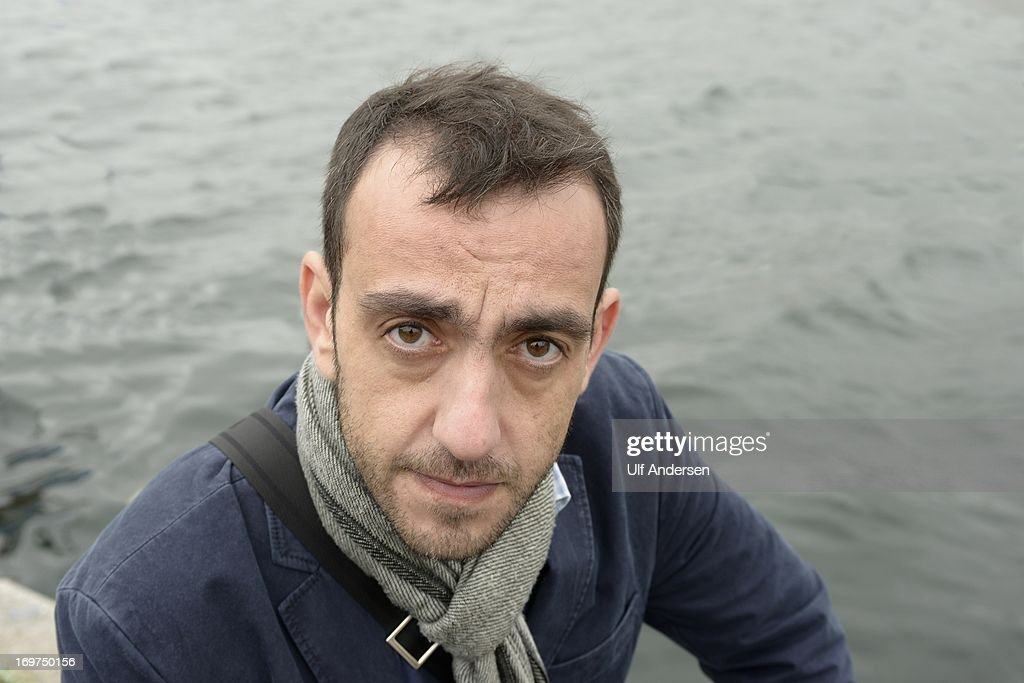 MALO, FRANCE - MAY 20. Jerome Ferrari, French writer poses during a portrait session held on May 20, 2013 in Saint Malo, France.