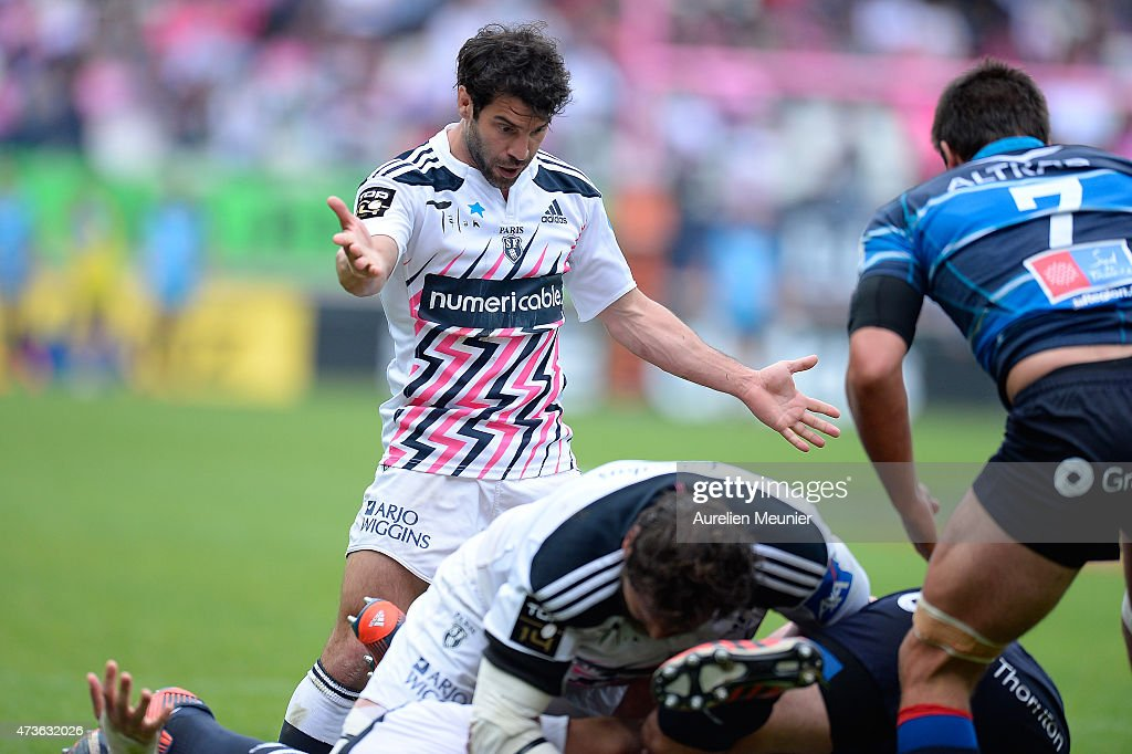 <a gi-track='captionPersonalityLinkClicked' href=/galleries/search?phrase=Jerome+Fillol&family=editorial&specificpeople=698636 ng-click='$event.stopPropagation()'>Jerome Fillol</a> of Stade Francais reacts during the Top 14 game between Stade Francais and Montpellier at Stade Jean Bouin on May 16, 2015 in Paris, France.