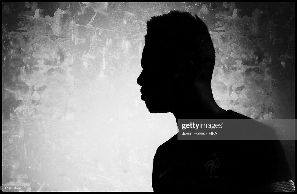 Jerome Foulquier looks on during a French training session at Gungoren Mimar Yahya Bas stadium on June 20, 2013 in Istanbul, Turkey.