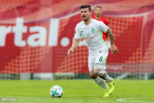 Jerome Gondorf of Bremen controls the ball during the preseason friendly between Werder Bremen and Wolverhampton Wanderers at Parkstadion Zell Am...