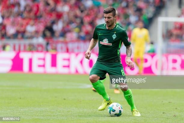 Jerome Gondorf of Bremen controls the ball during the Telekom Cup 2017 match between Borussia Moenchengladbach and Werder Bremen at on July 15 2017...