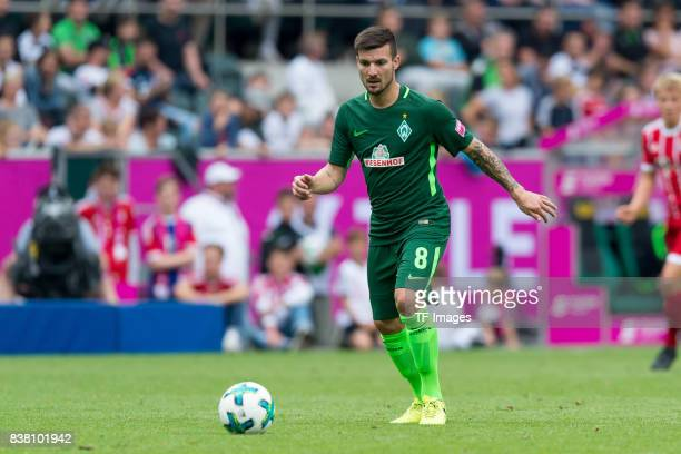 Jerome Gondorf of Bremen controls the ball during the Telekom Cup 2017 Final between SV Werder Bremen and FC Bayern Muenchen at Borussia Park on July...