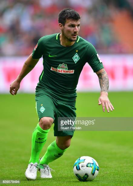 Jerome Gondorf of Bremen in action during the Bundesliga match between SV Werder Bremen and FC Bayern Muenchen at Weserstadion on August 26 2017 in...