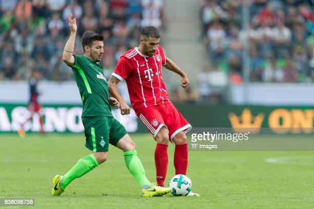 Jerome Gondorf of Bremen und Javi Martinez of Bayern Muenchen battle for the ball during the Telekom Cup 2017 Final between SV Werder Bremen and FC...