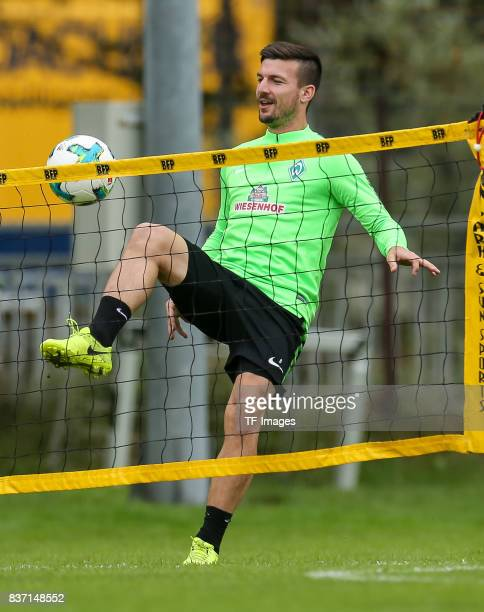 Jerome Gondorf of Werder Bremen controls the ball during the Training Camp of SV Werder Bremen on July 13 2017 in Zell am Ziller Austria