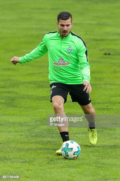 Jerome Gondorf of Werder Bremen controls the ball during the Training Camp of SV Werder Bremen on July 14 2017 in Zell am Ziller Austria