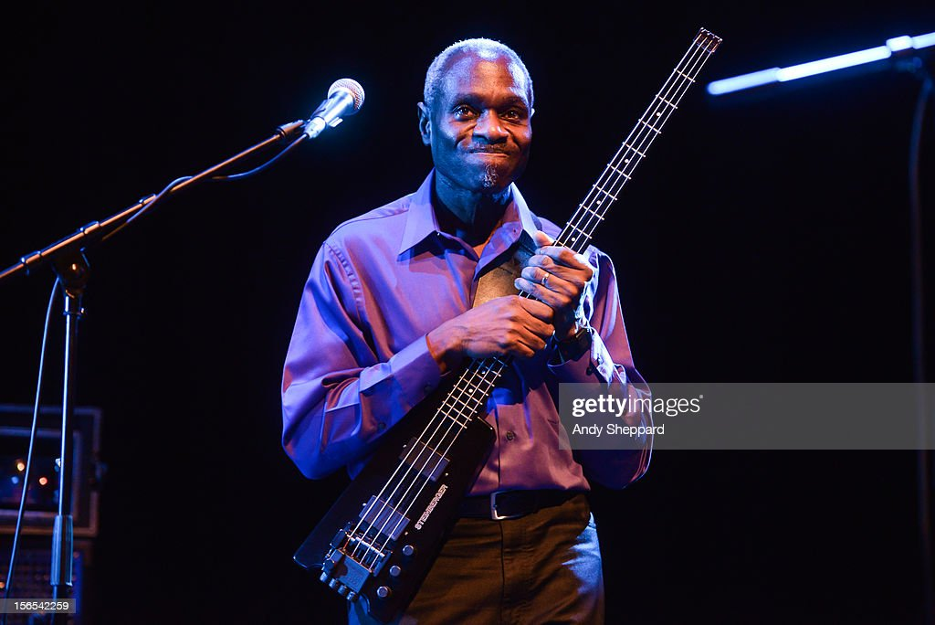 Jerome Harris performs on stage with Jack DeJohnette Group at Queen Elizabeth Hall during the London Jazz Festival 2012 on November 16, 2012 in London, United Kingdom.