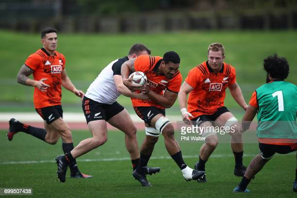 Jerome Kaino of the All Blacks during a New Zealand All Blacks training session at Trusts Stadium on June 22 2017 in Auckland New Zealand