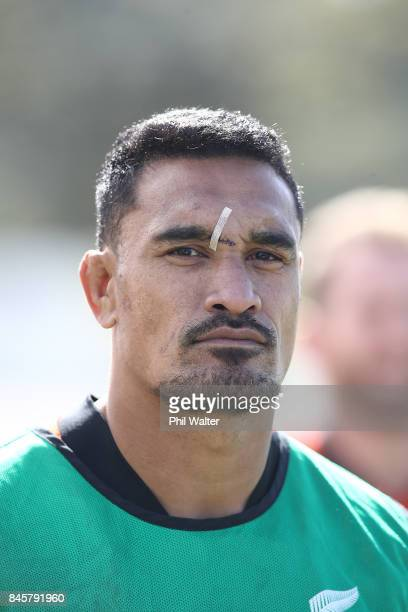 Jerome Kaino of the All Blacks during a New Zealand All Blacks training session at QBE Stadium on September 12 2017 in Auckland New Zealand