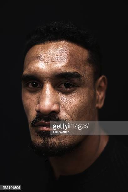 Jerome Kaino of the All Blacks poses for a portrait during a New Zealand All Black portrait session on May 29 2016 in Auckland New Zealand