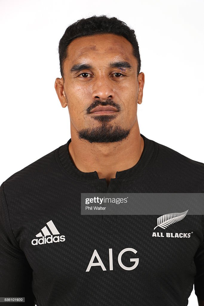 Jerome Kaino of the All Blacks poses for a portrait during a New Zealand All Black portrait session at the Heritage Hotel on May 29, 2016 in Auckland, New Zealand.