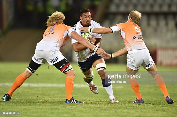 Jerome Kaino of the Blues during the Super Rugby match between Toyota Cheetahs and Blues at Free State Stadium on February 27 2015 in Bloemfontein...