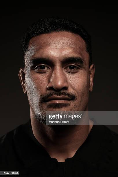 Jerome Kaino poses for a portrait during the New Zealand All Blacks Headshots Session on June 11 2017 in Auckland New Zealand