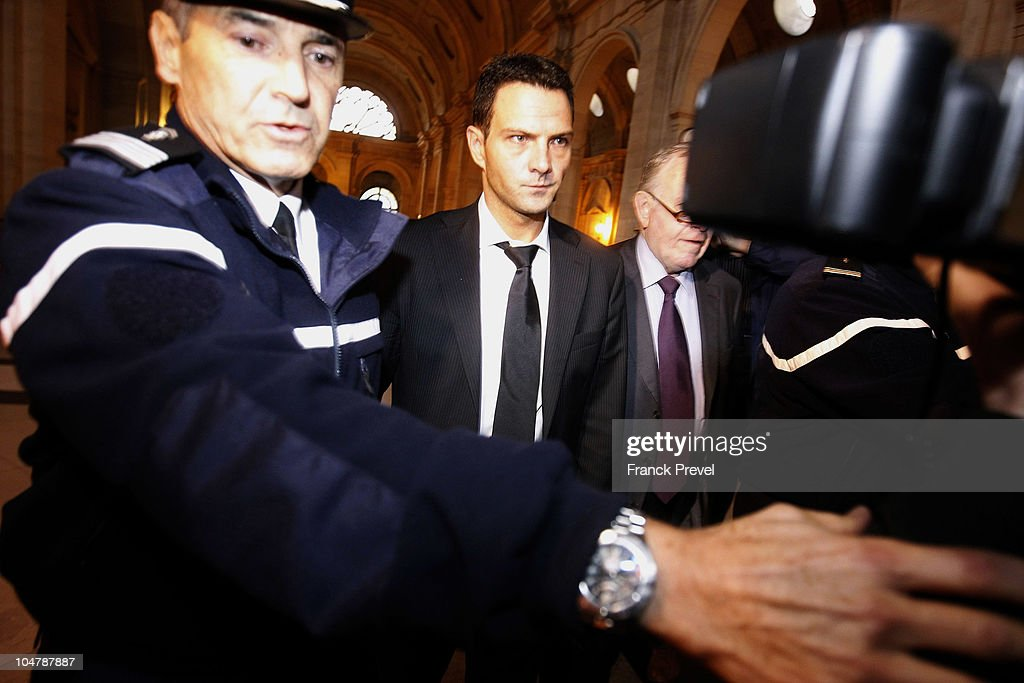 Jerome Kerviel the Societe Generale rogue trader arrives at a courthouse on October 5 2010 in Paris France Jerome Kerviel is facing three years in...