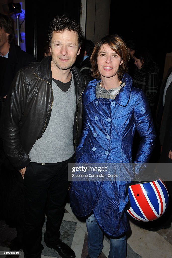Jerome Kircher and Irene Jacob attend the ' Bal de la Truffe' in Paris.