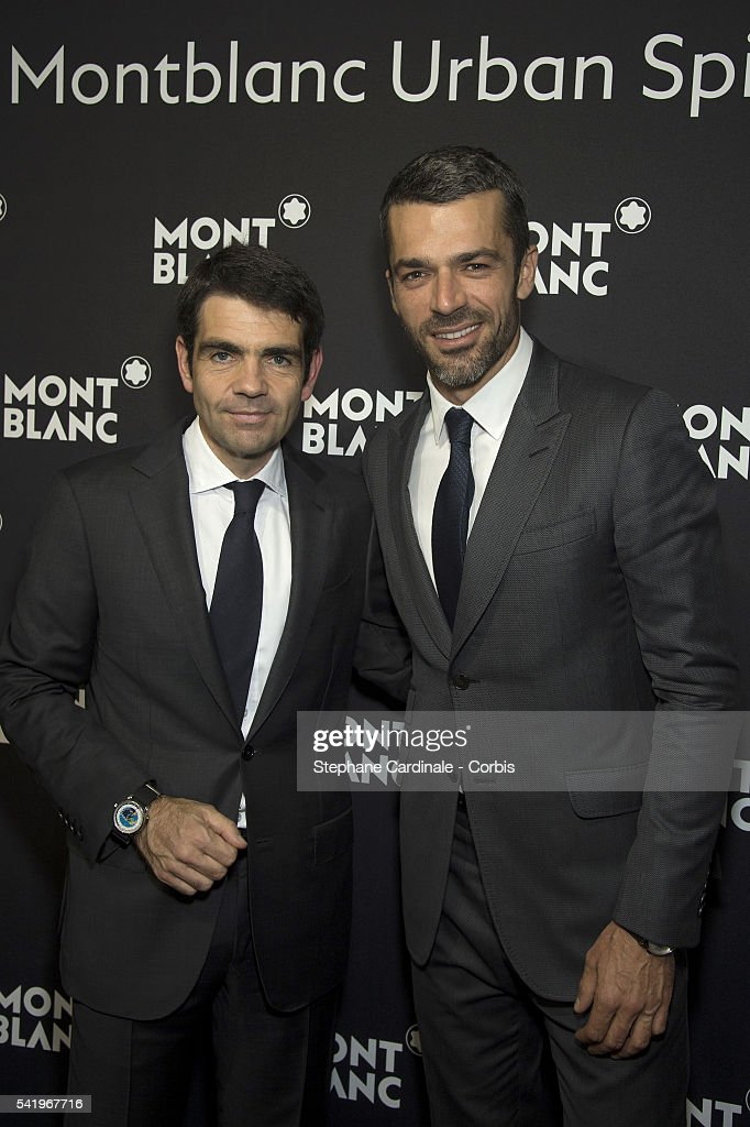 Jerome Lambert and Luca Argentero attend the Montblanc Urban Spirit Launch on June 21 2016 in Paris France