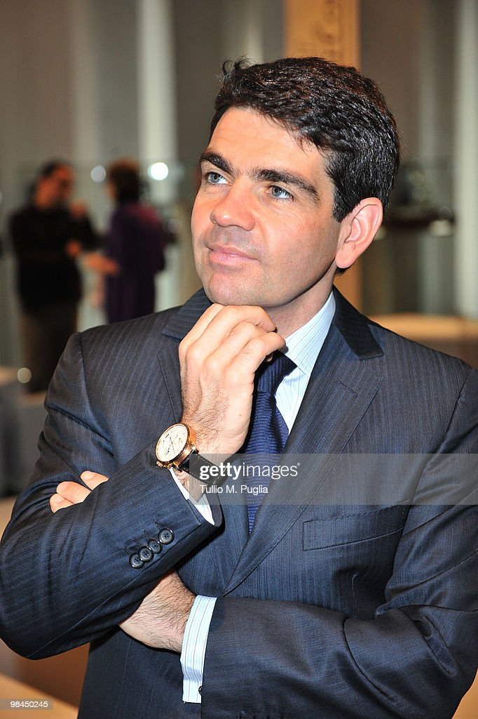 Jerome Lambert JaegerLeCoultre CEO attends JaegerLeCoultre new Atmos 566 press preview on April 14 2010 in Milan Italy