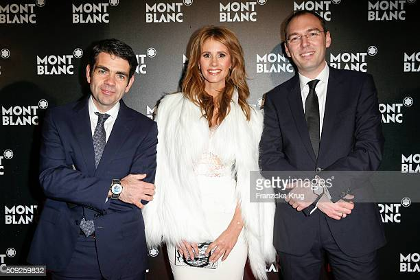 Jerome Lambert Mareile Hoeppner and Oliver Goessler attend the Montblanc House Opening on February 09 2016 in Hamburg Germany