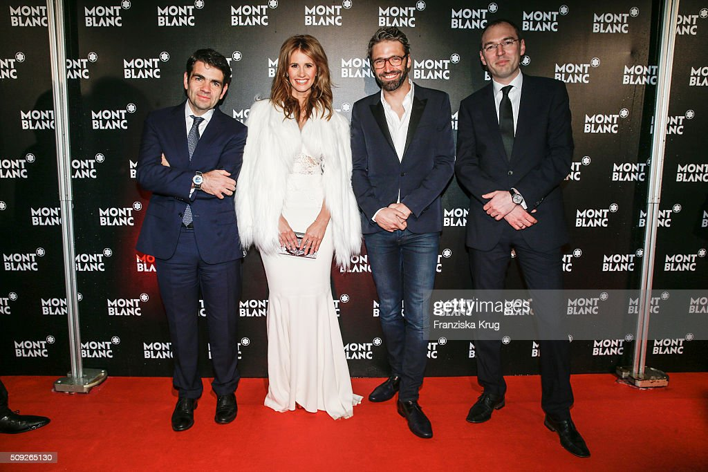 Jerome Lambert Mareile Hoeppner Noe DuchaufourLawrance and Oliver Goessler attend the Montblanc House Opening on February 09 2016 in Hamburg Germany