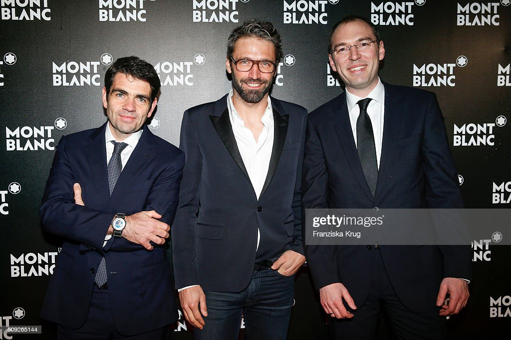 Jerome Lambert Noe DuchaufourLawrance and Oliver Goessler attend the Montblanc House Opening on February 09 2016 in Hamburg Germany