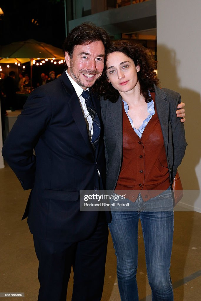 Jerome Neutres and daughter of Lionel Jospin, Eva Jospin attend the 'Ron Mueck' Exhibition : Closing Night at 'Fondation Cartier pour L'Art Contemporain' on October 24, 2013 in Paris, France.