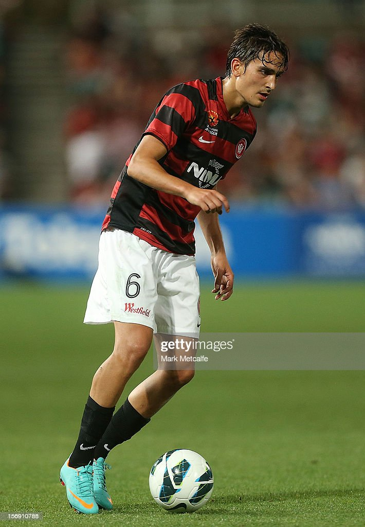 Jerome Polenz of the Wanderers in action during the round eight A-League match between the Western Sydney Wanderers and the Melbourne Victory at Parramatta Stadium on November 24, 2012 in Sydney, Australia.