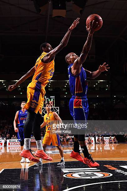 Jerome Randle of the Adelaide 36ers shoots during the round 11 NBL match between Adelaide 36ers and the Sydney Kings on December 16 2016 in Adelaide...