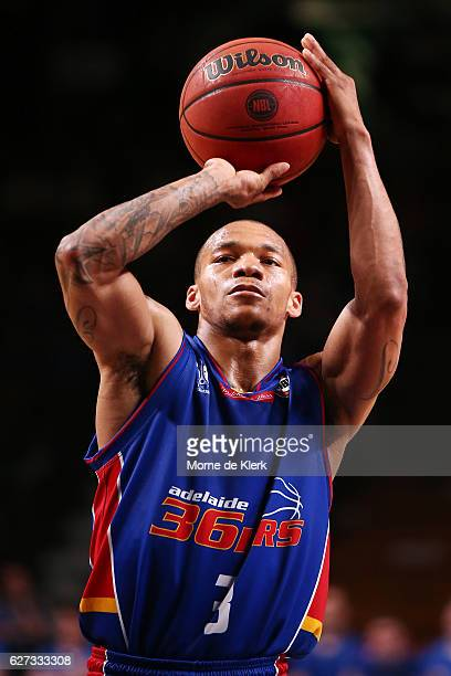 Jerome Randle of the Adelaide 36ers shoots during the round nine NBL match between the Adelaide 36ers and the Perth Wildcats at Adelaide Arena on...