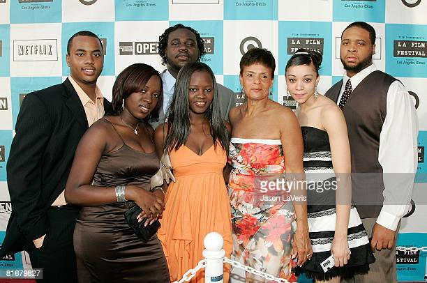 Jerome Scott Brandon Allen Fatoumata Dembele Wilma Stephenson Erica Gaither and Tyree Dudley attend the 2008 Los Angeles Film Festival's 'Pressure...