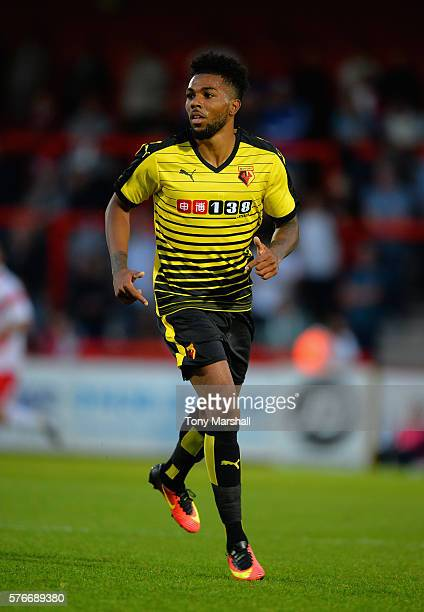 Jerome Sinclair during the PreSeason Friendly match between Stevenage and Watford at The Lamex Stadium on July 14 2016 in Stevenage England