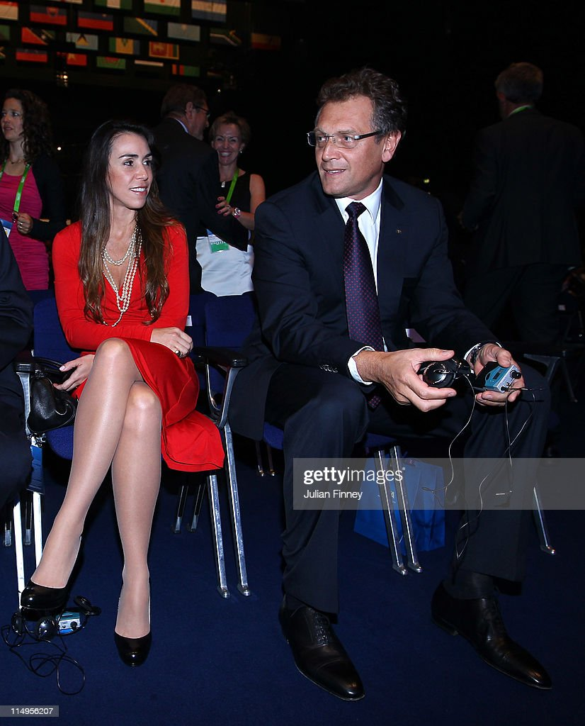 <a gi-track='captionPersonalityLinkClicked' href=/galleries/search?phrase=Jerome+Valcke&family=editorial&specificpeople=4375385 ng-click='$event.stopPropagation()'>Jerome Valcke</a>, Secretary General of FIFA takes his seat before the 61st FIFA Congress Opening Ceremony at Hallenstadion on May 31, 2011 in Zurich, Switzerland.