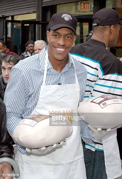 Jerome Williams during Dennis Quaid and the New York Knicks Visit the FoodChange Community Kitchen in New York City November 21 2005 at FoodChange...